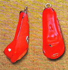 Грузики для французской оснастки. Красный цвет - традиция.