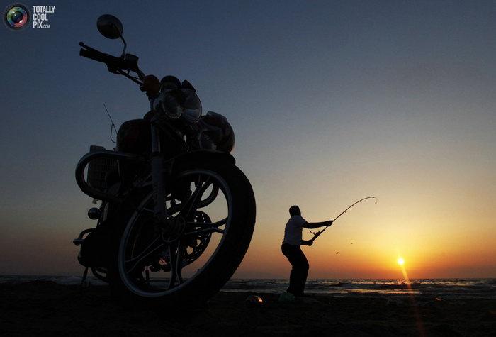 на рыбалку в шлеме