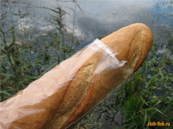 Французский батон как насадка