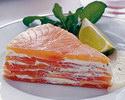 Слоёный торт из красной рыбы