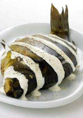 Рецепт карпа, фаршированного гречневой кашей.