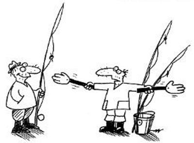 карикатуры о рыбалке