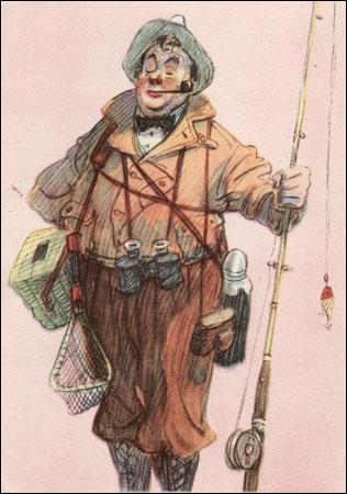 Рыболов - аристократ.