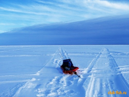 Зима. На распутье. Озеро Симко.