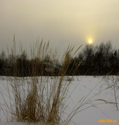 На закате зимнего дня